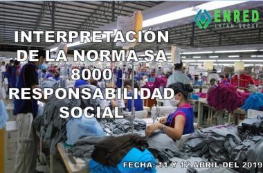 CURSO INTERPRETACION DE LA NORMA  SA 8000: RESPONSABILIDAD SOCIAL